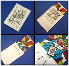 CLOWN MAGIC PAINT CARD PREDICTION MAGIC PRINTING PREDICT TRICK COLOUR IN FRAME