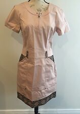2b Rych Light Cream/ Pink And Black Lace Dress Size 12