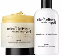 Philosophy Microdelivery Resurfacing Peel Duo Set Crystals+Gel 1ozx2 New Sealed