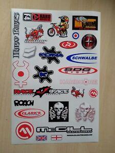 BMX BIKE BICYCLE STICKERS DECALS TRANSFERS - SET OF 24 - HARO ROACH SDG KONA