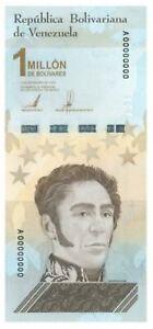 Venezuela Soberano Bolivares Banknote 1 Million - New Unc Banknote