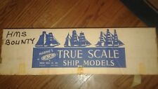 MARINES TRUE SCALE SHIP MODELS HMS BOUNTY 97% COMPLETE EXTREMELY RARE