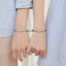 2PCS Couple Bracelet Love Friendship Rope Braided Distance Magnetic Jewelry Gift