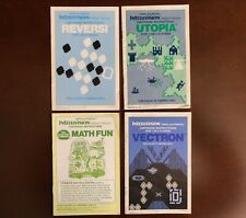 Intellivision Manuals for Arcade, Learning and Strategy Networks from Mattel