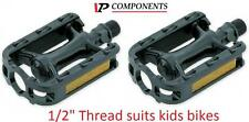 "VP Kids Bike Pedals 1/2"" Thread to suit kids bikes Resin Body VP-209B BLACK 3478"