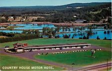 Spooner Wisconsin~Country House Motor Hotel~Lake Panorama~1960s Postcard