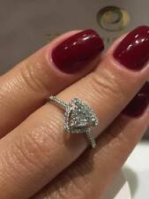 CLEARANCE SALE 18CT WHITE GOLD HALO RING 0.50CT DIAMONDS TRIANGLE RING LCL042
