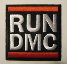 """RUN DMC~Embroidered Applique Patch~3"""" x 3""""~Iron Sew~Rap Hip Hop~FREE US Mail"""