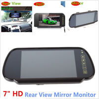 "7"" LCD TFT Color Screen Car Reverse Rearview Backup Camera DVD Mirror Monitor HD"