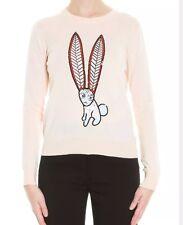 Markus Lupfer Hot Air Balloon Gray Merino Wool Sweater X Small