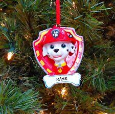PERSONALIZED Paw Patrol Marshall Christmas Tree Ornament 2019 Holiday Gift