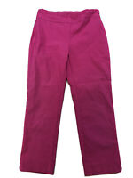 Chico's Women's Pink Stretch Pull On Cropped Pants Sz 0/US 4