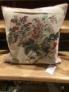 New Laura Ashley Branble/ Cranberry Tapestry Cushion.43cm X 43cm RRP £40