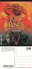 THE LORD OF THE RINGS THE TWO TOWERS UNUSED ADVERTISING COLOUR POSTCARD (a)