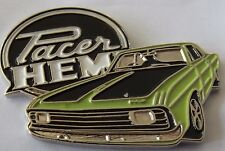 Chrysler Valiant Hemi Pacer lapel pin badge.  --  green  --   F040902