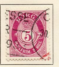 Norway 1921 Early Issue Fine Used 5ore. 123273