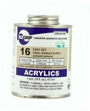 New listing Scigrip 16 Acrylic Cement, Low-Voc, Medium Bodied, 1 Pint Can with Screw Pint