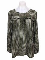 Ann Taylor Loft Floral Long Sleeve Blouse Top Shirt Size M Women's