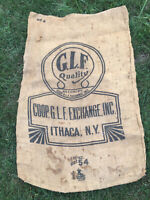 Barn Find Burlap Sack Size 54 GLF Quality Ithaca New York