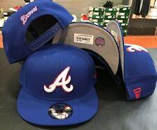 Atlanta BRAVES COOP 2hit Snap back Snapback 9Fifty New Era 950 CAP Hat OSFA blue