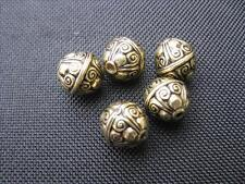5 Perline Acrilico Rotondo Antico Oro colorate 12mm PERLE NUOVO 10258