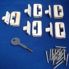 X5 genuine CHUBB white window locks with 2 keys and screws.