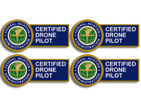 4 PACK FAA FEDERAL AVIATION ADMINISTRATION CERTIFIED DRONE PILOT STICKER DECAL
