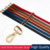 Real Leather Shoulder Strap Litchi Grain Purse Crossbody Adjustable Replacement