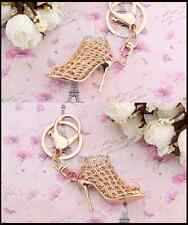 On Bag In Metal Colour Gold Keyring With Pendant Shaped Shoes To Hang