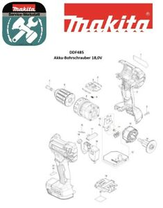 Makita Ersatzteile für Akku-Schlagbohrschrauber DDF485Z