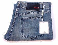 Versace Sport Womens Denim Light Blue Jeans Tag Size 31/45 Mine 32x32 Distressed