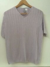 Collection By Cherokee Womens Size S Light Purple Short Sleeve Sweater Top