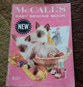 Vintage 1960 McCall's Easy Sewing Book 112 Pages Fabrics Fittings Lacy Finishing