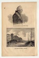 Berlin-Schloss - Ewald Friedrich von Hertzberg - Portrait - Lithographie 1840