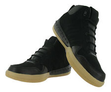 Adidas Lux Mid 677620 Luxury Gum Black Leather Basketball Shoes Men's 11 NEW