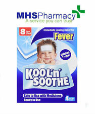 Kool 'n' Soothe Soft Gel Children Kids Fever Immediate Cooling Relier 4 Sheets