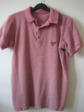 "MANS 'VOI JEANS' PRE WORN  POLO SHIRT SIZE S 36"" CHEST COTTON-PALE RED."