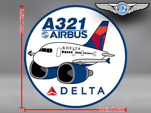 DELTA AIR LINES ROUND PUDGY AIRBUS A321 A 321 DECAL / STICKER