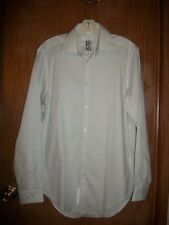 NWT CALVIN KLEIN WHITE & ONYX DOTS SLIM FIT  STRETCH LS SHIRT SZ 15 32-33 $69.50