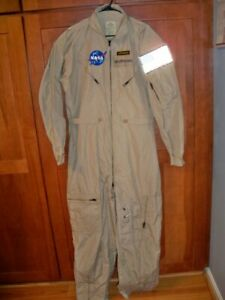 USAF Flyers Coveralls Summer Flight Suit CWU-27/P Tan Desert Size 46L EXC COND!