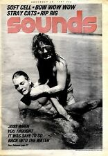 """F27 SOUNDS NEWSPAPER COVER PAGE 15X11"""" OZZY OSBOURNE 28/11/1981"""