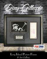 Dizzy Gillespie Signed Bank Check Newly Custom Framed FREE SHIP PSA/DNA COA
