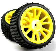85024 Yellow Rear Wheels / Tyres Complete x 2 1/16 HSP Parts