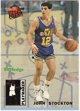 1992-93 ULTRA PLAYMAKERS: JOHN STOCKTON #9 OF 10 UTAH JAZZ NBA ALL-TIME LEADER