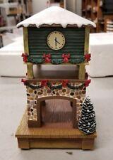 Hawthorne Village Brad Exchange Train Station Collection Clock Tower no COA, (6D