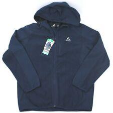NWT Reebok Mens XL Navy Mixed Media Soft Shell Hooded Jacket