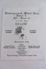 Underground Metal Zine #4 1997 - Godflesh, Wayne Klinger, BELOW, Regurgitation