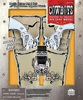 Cowboy Double Holster Cap Gun Pistol Set & Belt/Two Western Repeater Pistols