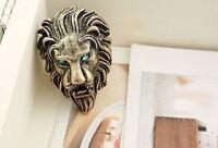 *UK Shop* VINTAGE GOLD LION WITH BLUE EYES RING P JEWELLERY GOTHIC EMO MEN ROAR