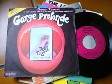 "7"" OST GORGE PROFONDE DEEP THROAT FRANCE WHITAKER COVER VG+ VINYL EX/EX+"